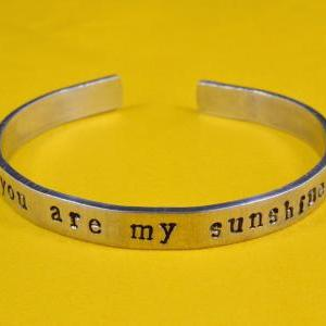 you are my sunshine - Hand Stamped ..