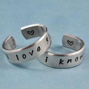 i love you i know - Hand Stamped Al..